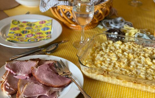 Hashbrown Casserole Easter Table