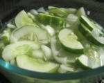 What's for Dinner? Cucumber Onion Dressing (with some kind of meat, of course . . .)