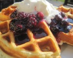 What's for Breakfast (or dinner . . .)? Oh Boy! Waffles with Blueberry Sauce