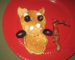 Hurry Up and Eat - Piggy (Puppy?) Pancakes!