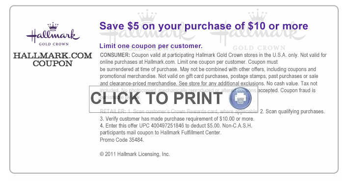 living spaces printable coupon new 5 10 hallmark pincher 23456 | hallmark3