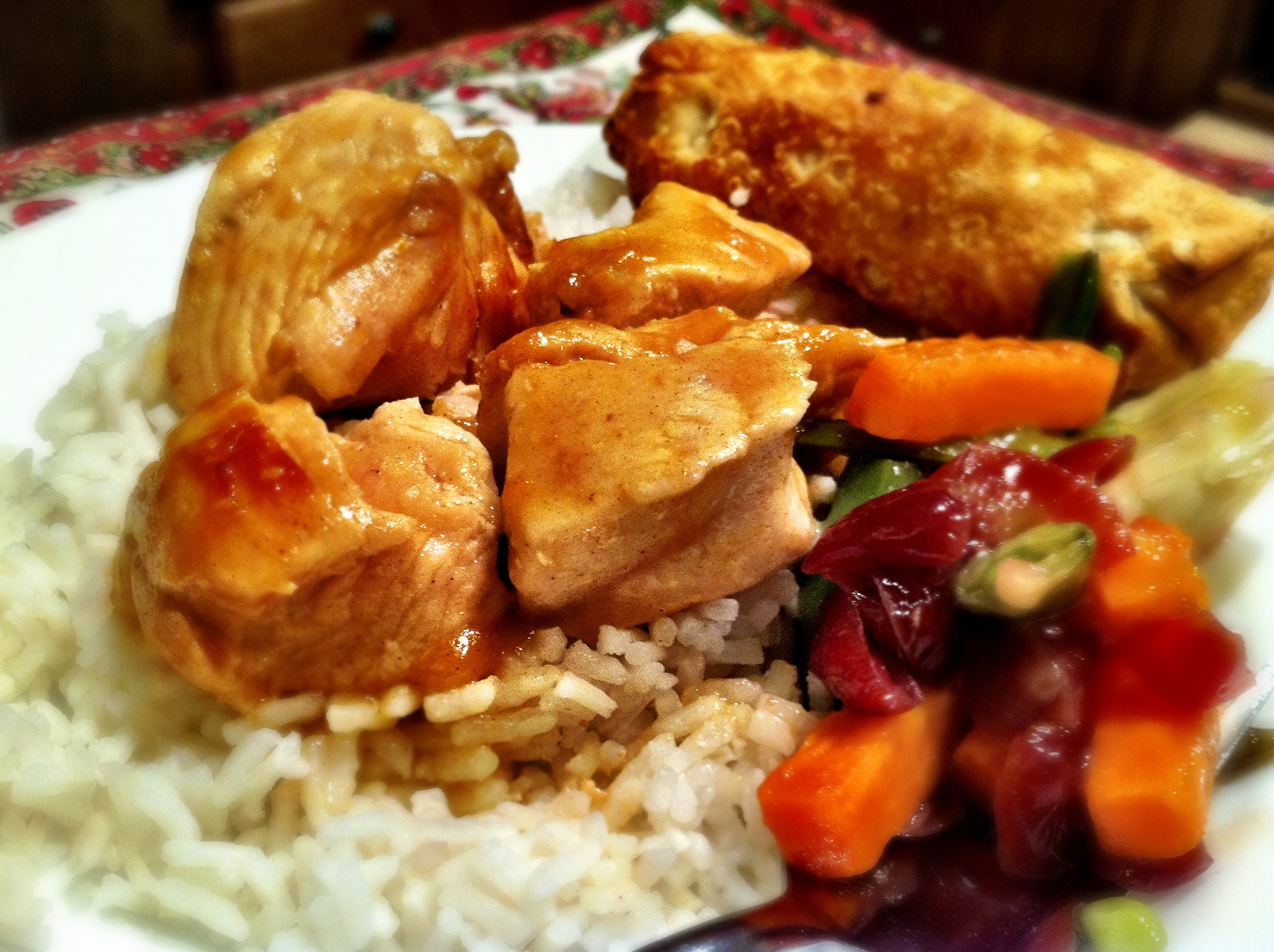 What's For Dinner? Chicken & Orange Sauce With Rice | Passionate Penn...
