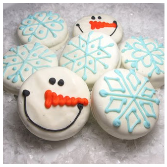Check out these cute snowman and snowflake cookies at The Decorated Cookie (love this!) A simple idea that is sure to bring smiles to your kidsu0027 faces. & Adorable Cookie Decorating Ideas | Passionate Penny Pincher