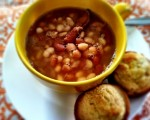 Slow Cooked Ham & Bean Soup