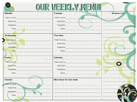 free printable meal planners