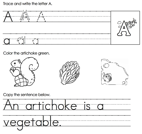Free Printable Alphabet Worksheets | Passionate Penny Pincher