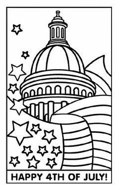 Free July 4th Coloring Sheet