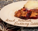 Almost Homemade Blackberry Cobbler