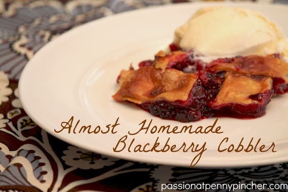 Almost Homemade Blackberry Cobbler | Passionate Penny Pincher