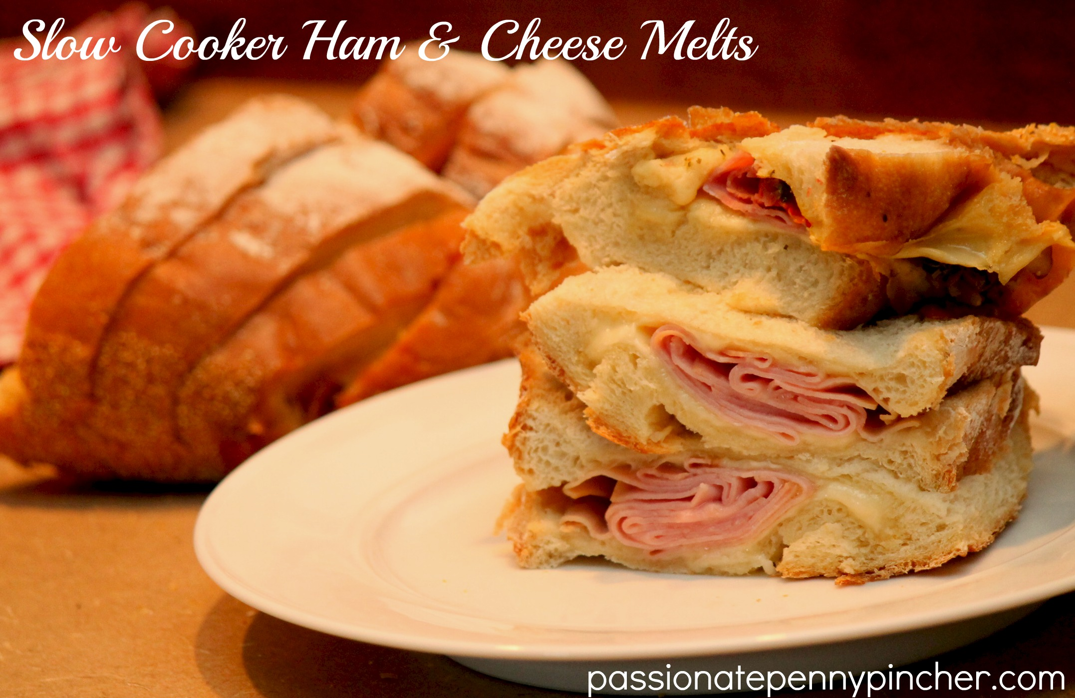 Slow Cooker Ham & Cheese Melts