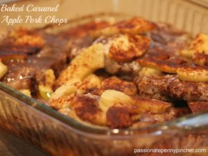 Baked Caramel Apple Pork Chops