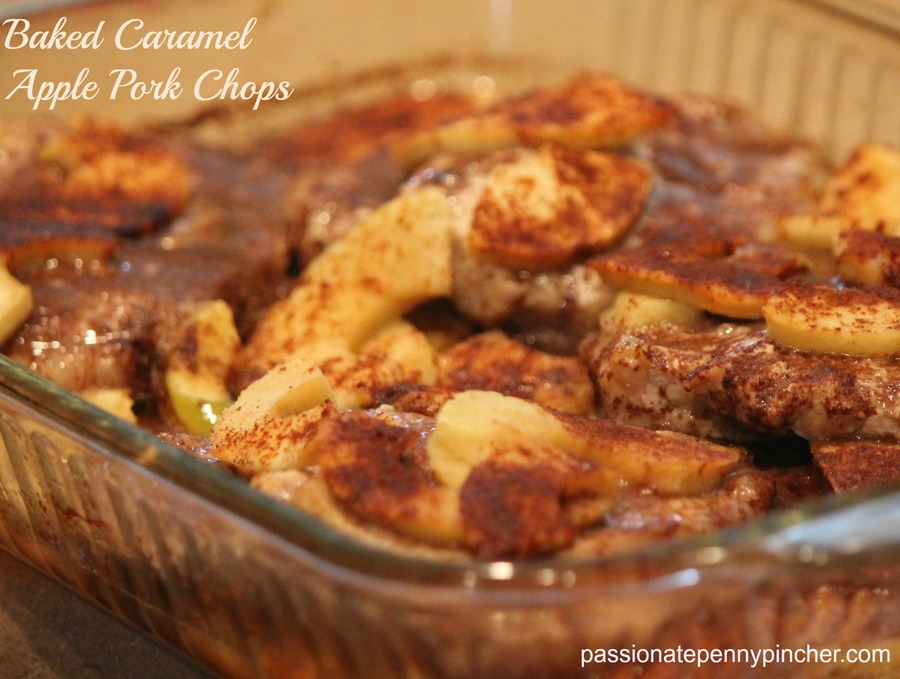 Baked Caramel Apple Pork Chops | Passionate Penny Pincher
