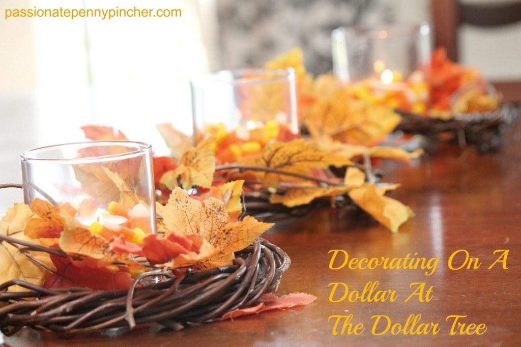 Frugal fall decorating for How to decorate a thanksgiving table on a budget