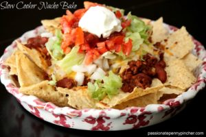 Slow Cooker Nacho Bake