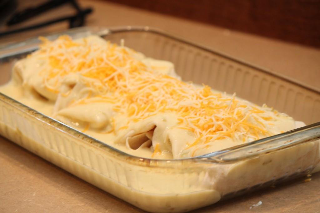 White Chicken Cheesy Enchilada Bake | Passionate Penny Pincher