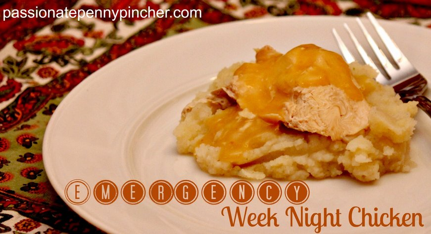 Emergency Weeknight Chicken {Slow Cooker}