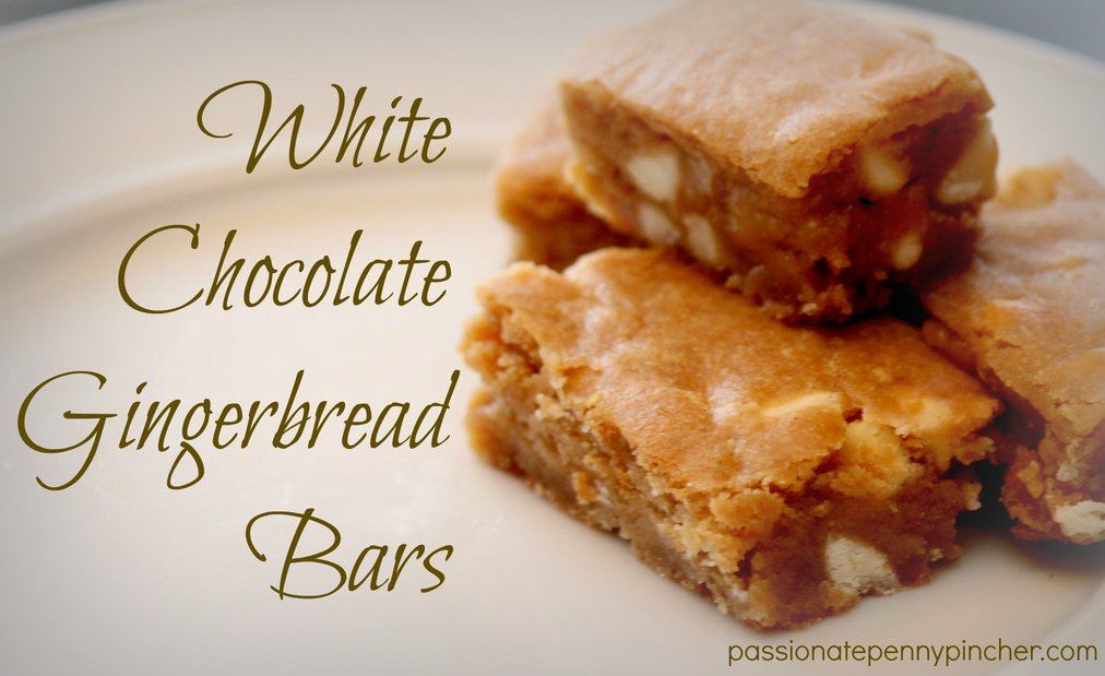 White Chocolate Gingerbread Bars
