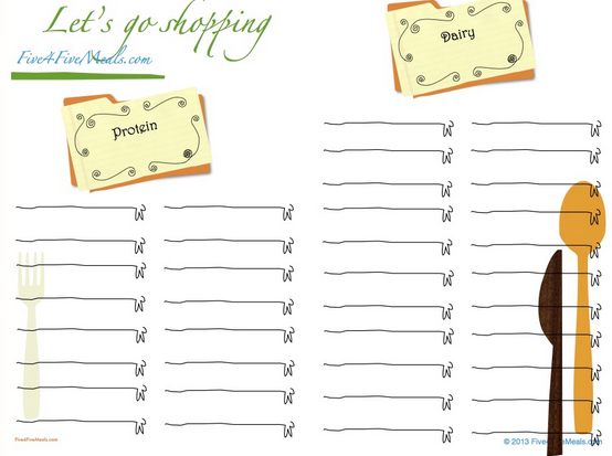 Free Grocery List Printable amp Family Friendly Meals In A  : Capture228 from passionatepennypincher.com size 554 x 413 png 181kB