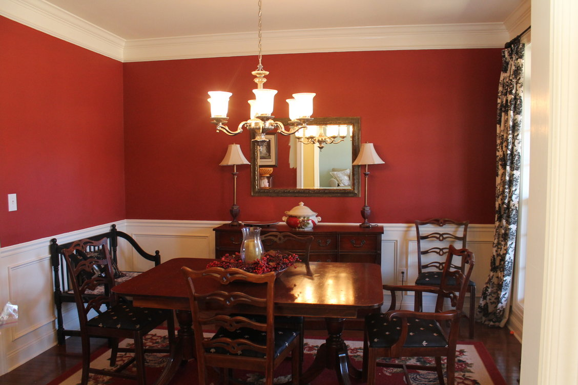 Why you shouldn 39 t penny pinch on paint passionate penny for Red dining room designs