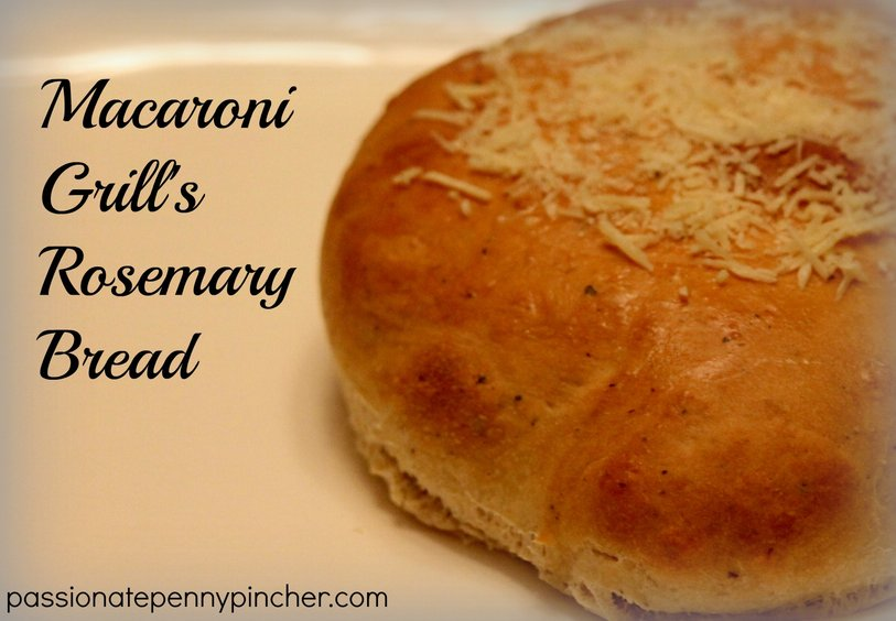 Macaroni Grill Rosemary Bread