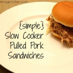 Simple Slow Cooker Pulled Pork Sandwiches