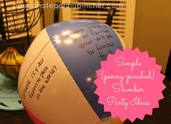 Frugal Slumber Party Ideas Passionate Penny Pincher