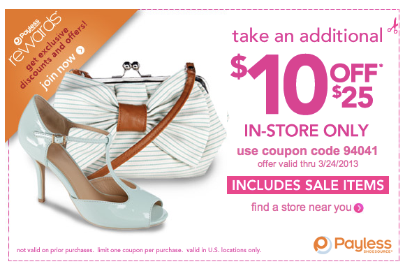Payless shoes coupons 10 off 25 printable
