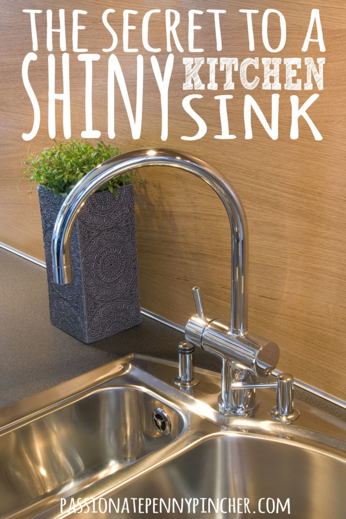 Kitchen Sink Cleaning How to shine your kitchen sink passionate penny pincher shiny kitchen sink workwithnaturefo