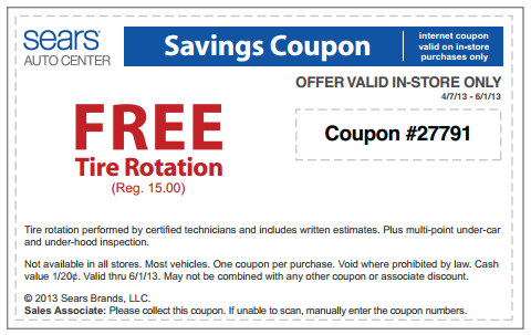 Sears Tire Sale Coupons Hawaiian Rolls Coupons 2018