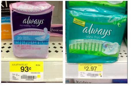 Always pads coupons walmart