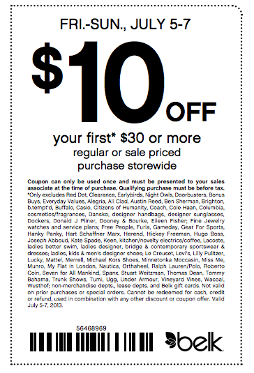 10   30 belk coupon