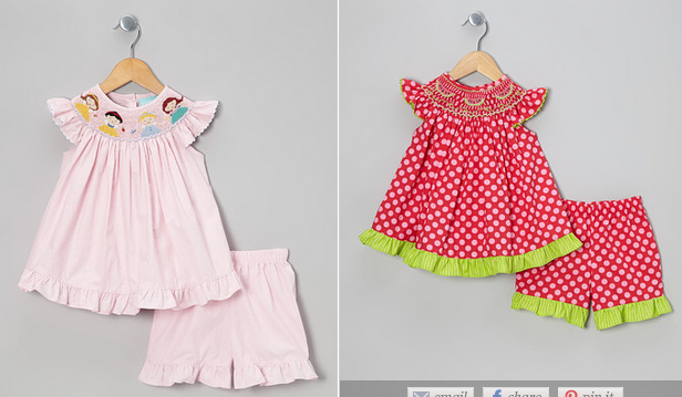 Zulily sale save on smocked outfits as well as fun dresses for older
