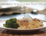 {Six Ingredient} Slow Cooker Beef Stroganoff