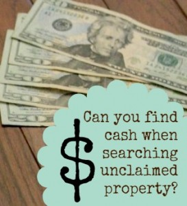 Free unclaimed money database search