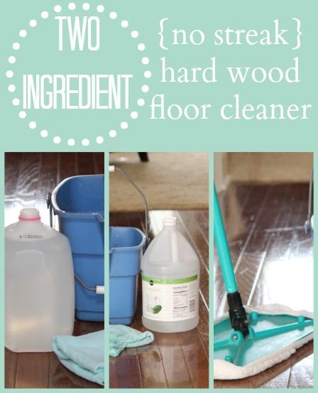 No Streak Hardwood Floor Cleaner Just Two Ingredients You