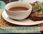 Slow Cooker London Broil With Brown Gravy
