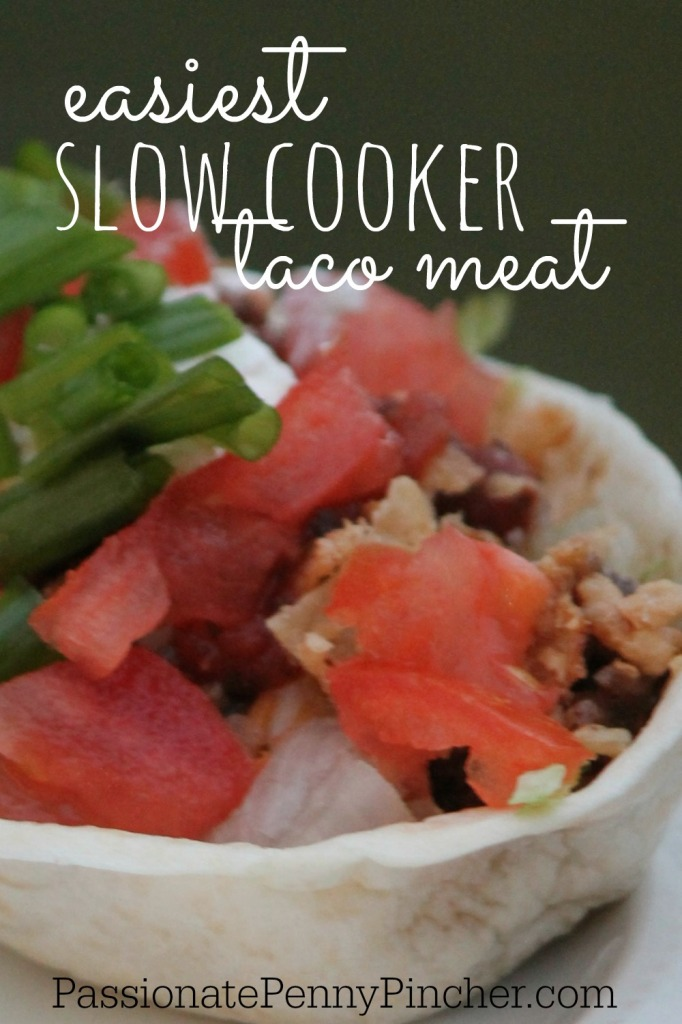 Easiest Slow Cooker Taco Meat - PINTEREST