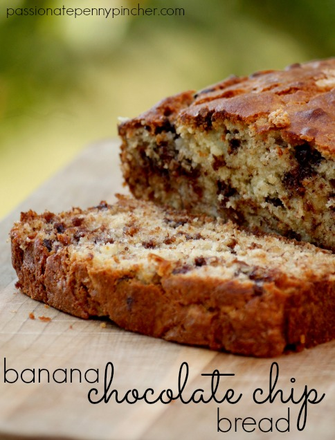 Banana Chocolate Chip Bread - Passionate Penny Pincher