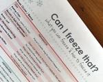 Free Freezer Printable List: What To Freeze & How To Freeze It
