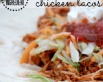 {3 Ingredient} Skinny Slow Cooker Chicken Tacos