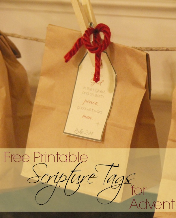 Free Printable Scripture Tags For Advent + Our New Tradition