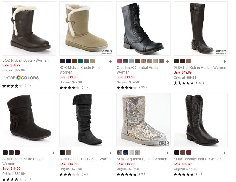 9590303b9fc Ladies' & Girls' Boots As Low As $11.99 Shipped from Kohl's