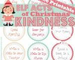 Free Elf Acts of Christmas Kindness Printable