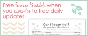 Free Freezer Printable