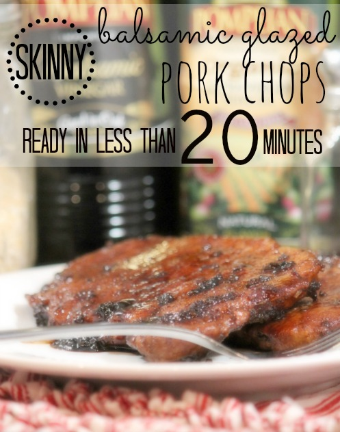 Balsamic Glazed Pork Chops (4 Weight Watchers Points) - Passionate ...
