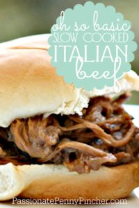 slow cooked italian beef - PINTEREST