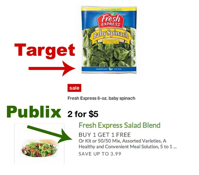 New $1/2 Fresh Express Coupon + Savings At Target & Publix