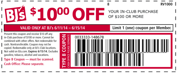 Bjs coupon code