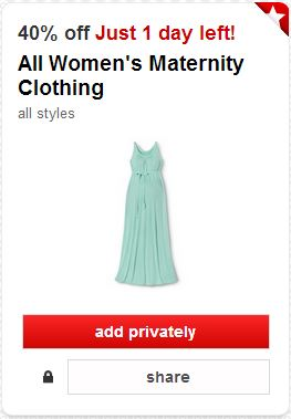 511914a0a16 Target Deal  40% Off Maternity Clothes + Coupon Match-Up