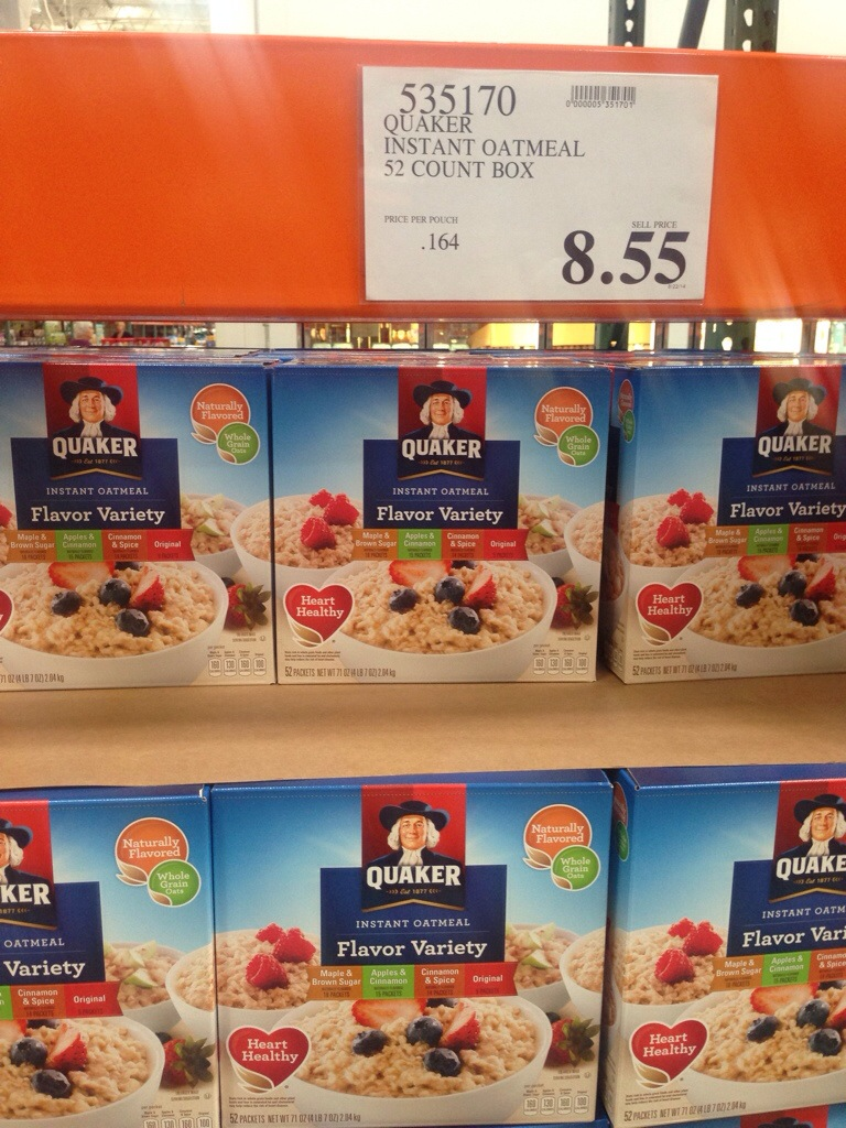 Instant Oatmeal Costco : Costco part grocery savings passionate penny pincher